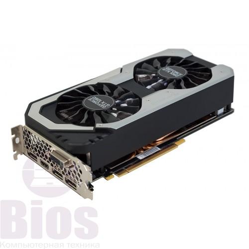 Видеокарта буPalit PCI-Ex GeForce GTX 1060 Dual 6GB GDDR5 (192bit) (1506/8000) (DVI, HDMI, 3 x DisplayPort)