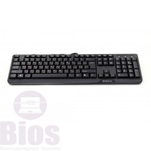 Клавиатура Real-El Standard 500 USB Black