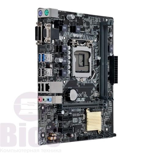 Материнская плата Б/у Asus H110M-K+ Intel Core I5 6500